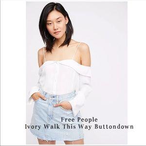 Free  People Walk This Way Buttondown
